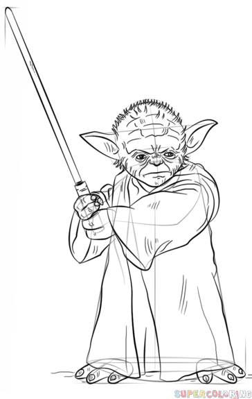 how to draw yoda with lightsaber lightsaber paintings search result at paintingvalleycom how yoda draw with lightsaber to