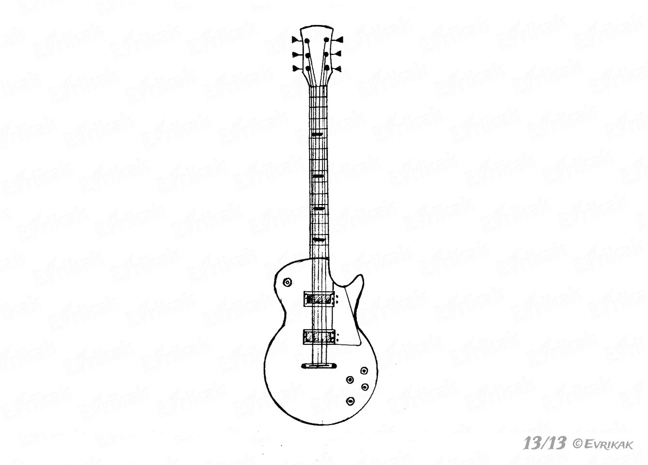 how to sketch a guitar acoustic guitar line drawing at paintingvalleycom how sketch guitar to a