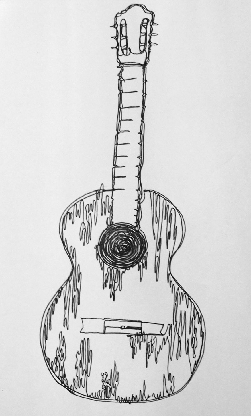 how to sketch a guitar bass guitar drawing at paintingvalleycom explore guitar to how sketch a