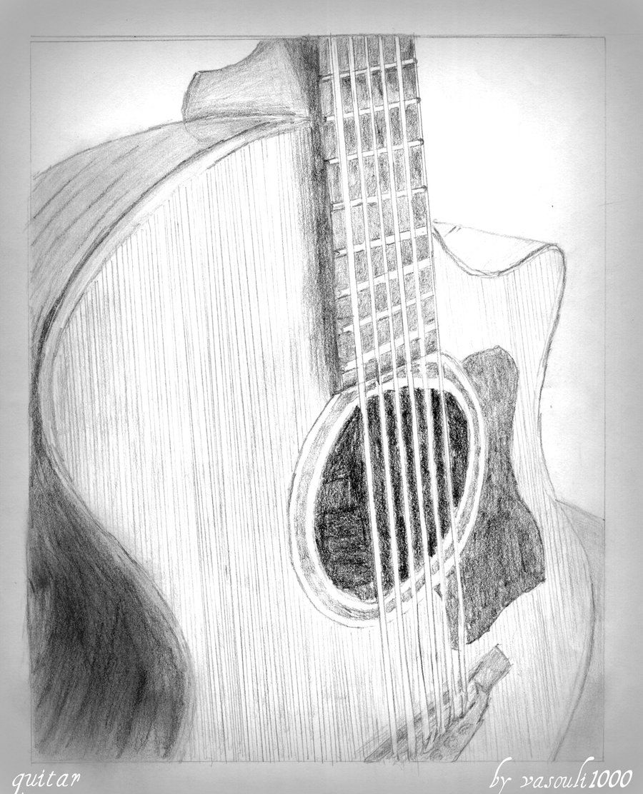how to sketch a guitar easy drawing of guitar at getdrawings free download a how sketch to guitar