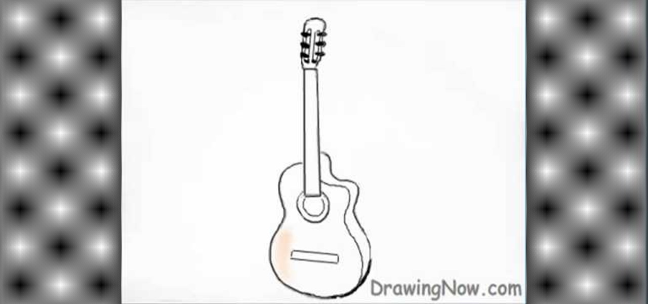 how to sketch a guitar easy drawing of guitar at getdrawings free download guitar sketch a how to