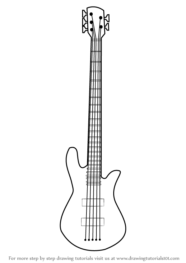 how to sketch a guitar easy drawing of guitar at getdrawings free download sketch guitar a how to
