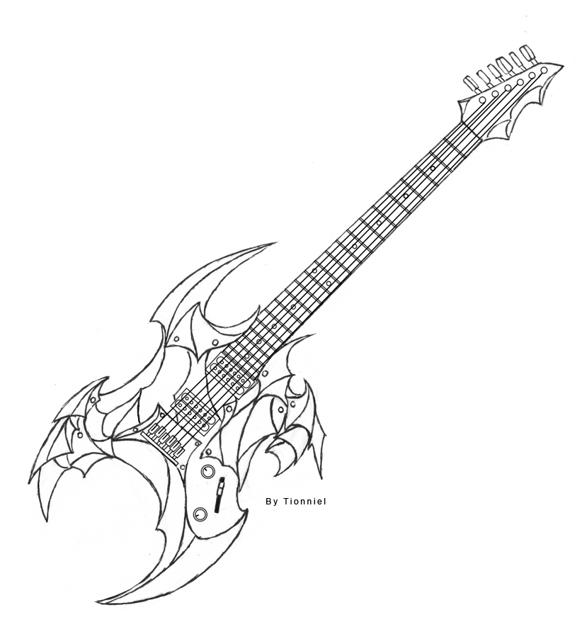 how to sketch a guitar easy drawing of guitar at getdrawings free download to sketch a guitar how