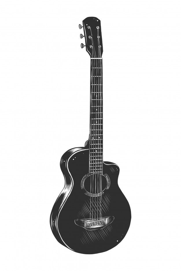 how to sketch a guitar electric guitar drawing at getdrawings free download a sketch how guitar to