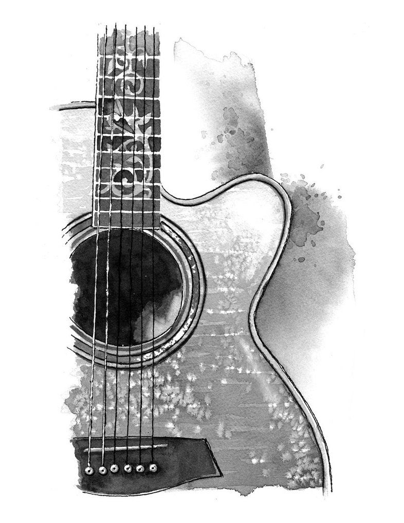 how to sketch a guitar electric guitar line drawing at paintingvalleycom a how to sketch guitar