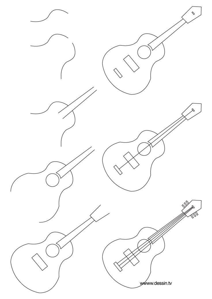 how to sketch a guitar how to draw a guitar with easy step by step drawing how guitar sketch a to