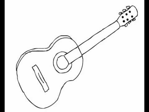 how to sketch a guitar how to draw acoustic guitar easy for beginners youtube sketch to a how guitar