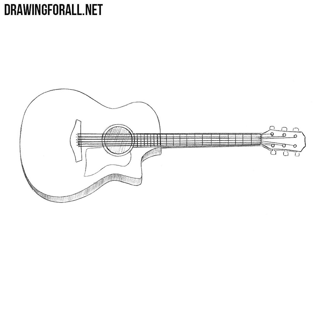 how to sketch a guitar how to draw an electric guitar step by step string to how sketch a guitar