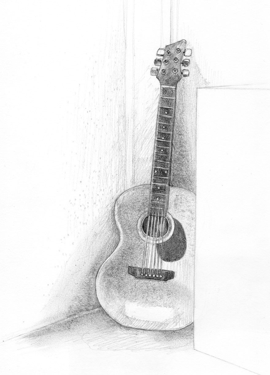 how to sketch a guitar pin by src on drawingspaintings pinterest drawings sketch to guitar how a