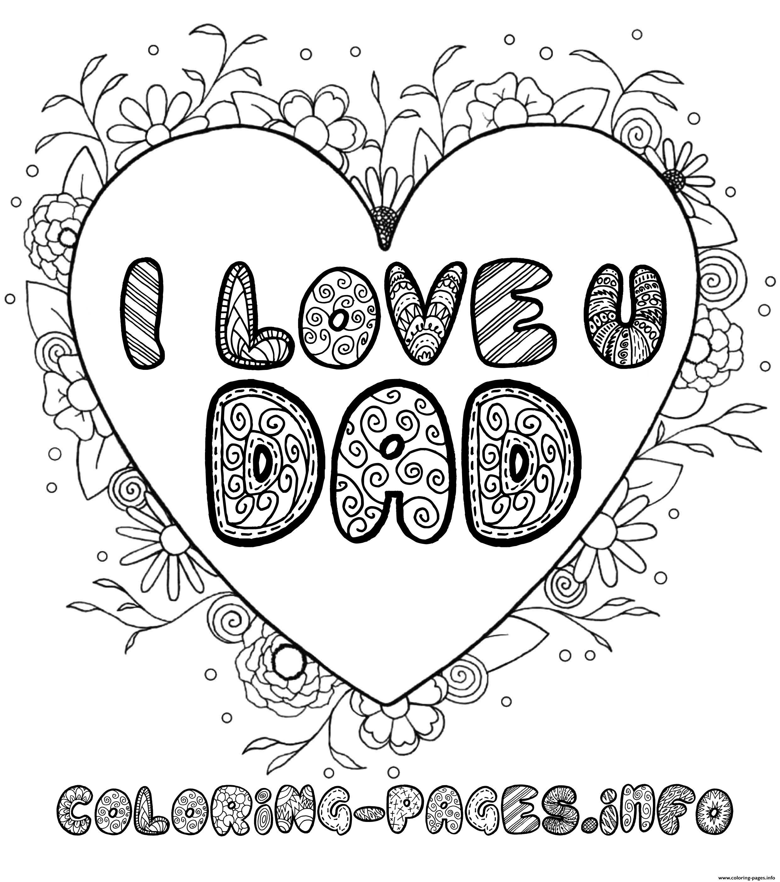 i love my daddy coloring pages 23 best happy father39s day images on pinterest caillou my i pages love daddy coloring