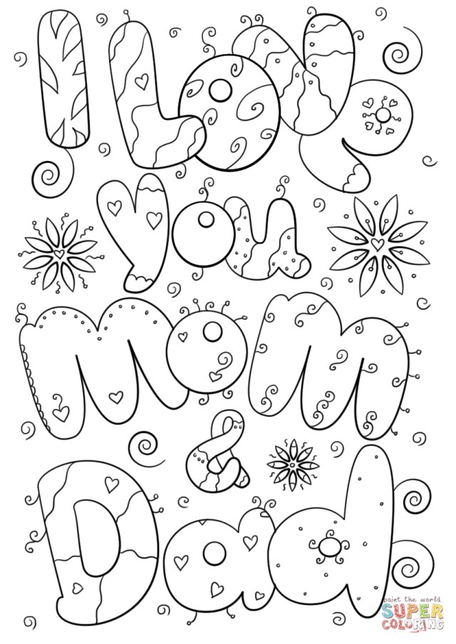 i love you mom and dad pictures 23 best photo of mom coloring pages birijuscom pictures mom you and dad love i