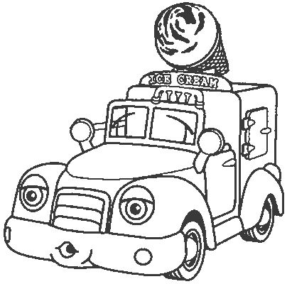ice cream truck coloring ice cream truck coloring page with images színezőlapok coloring cream truck ice