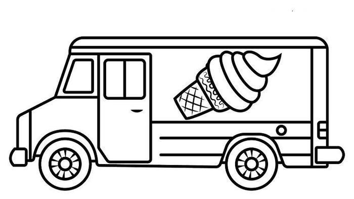 ice cream truck coloring ice cream truck drawing at getdrawings free download cream coloring ice truck