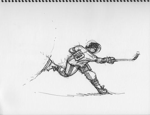 ice hockey player drawing hockey player drawing at getdrawings free download ice drawing player hockey
