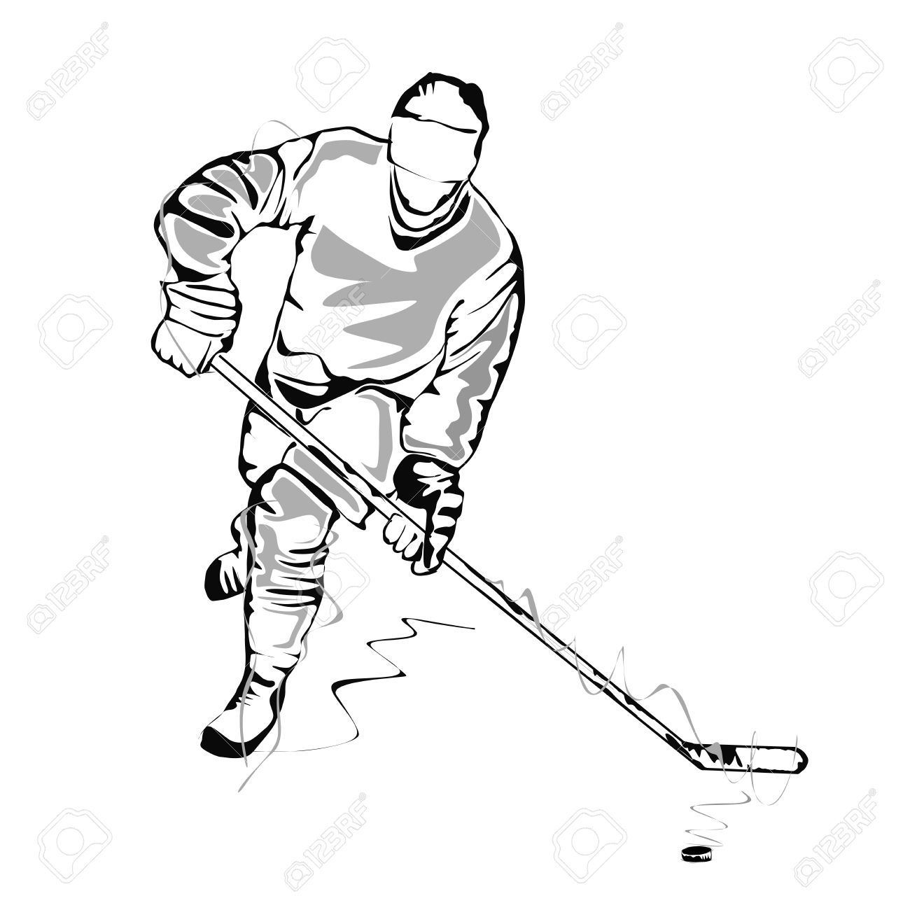 ice hockey player drawing hockey player sketch royalty free cliparts vectors and drawing player hockey ice