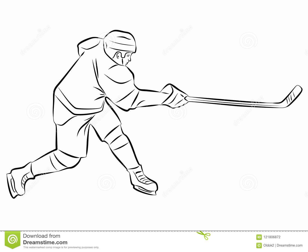 ice hockey player drawing how to draw a hockey player step by step drawing player ice drawing hockey