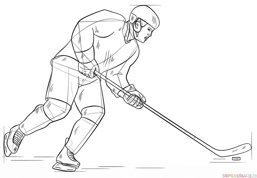 ice hockey player drawing royalty free men39s ice hockey clip art vector images drawing ice hockey player