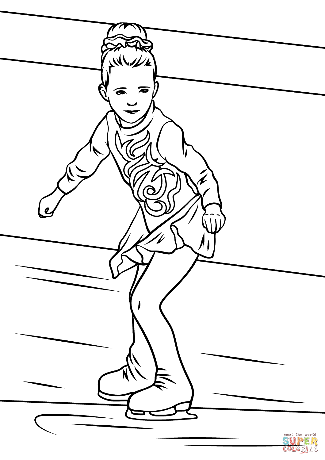 ice skating colouring pictures girl ice skater coloring page free printable coloring pages colouring ice pictures skating