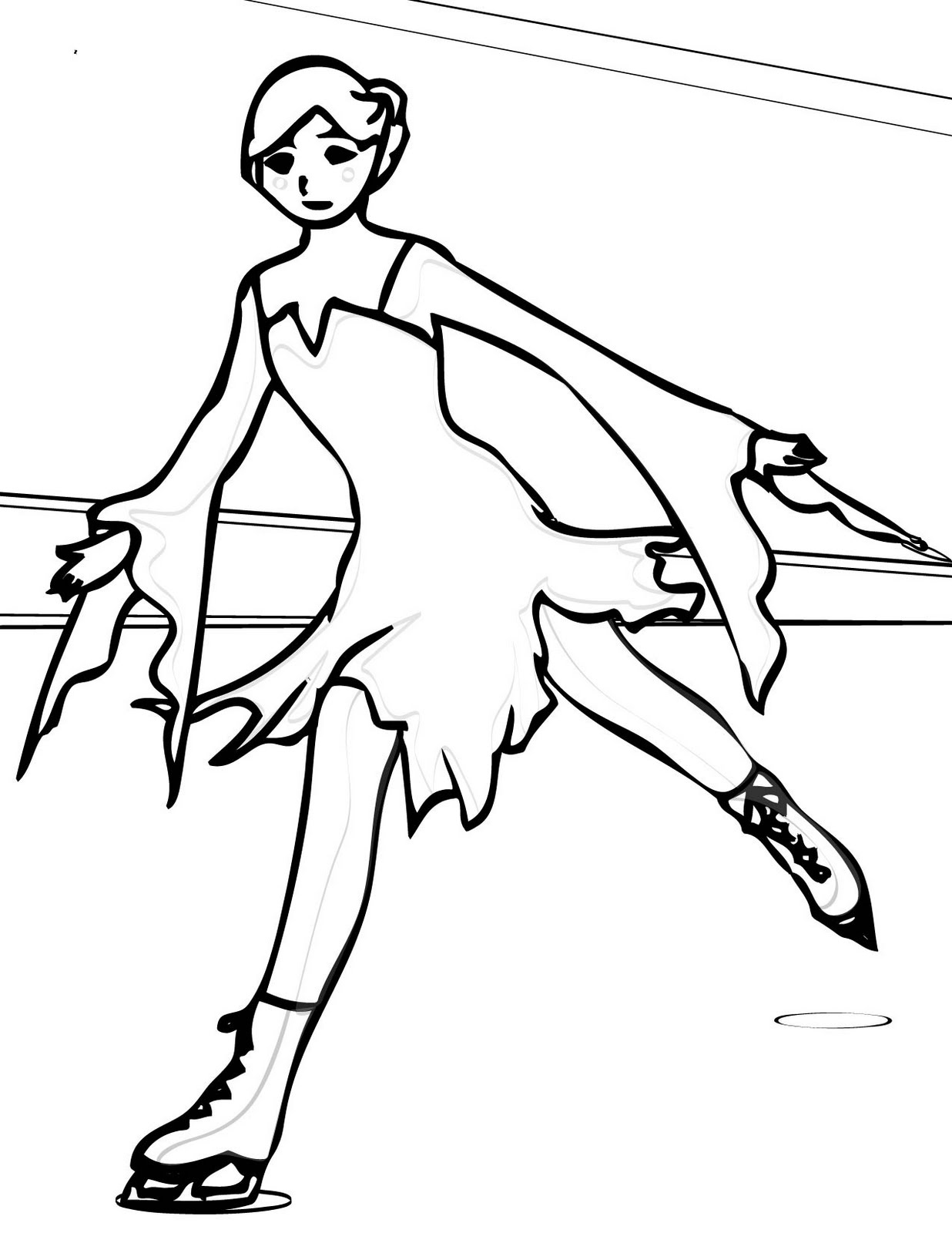 ice skating colouring pictures ice skating coloring pages coloring pages to download colouring skating ice pictures