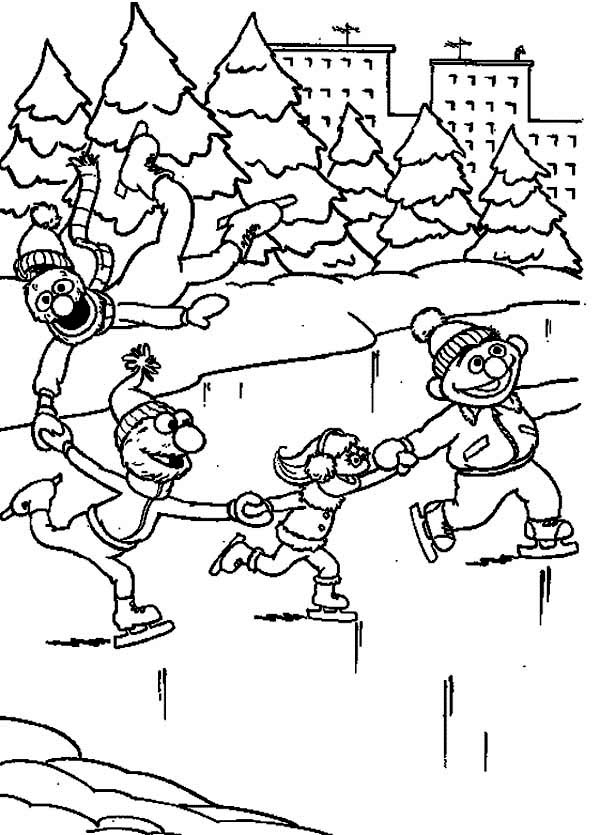 ice skating colouring pictures kids ice skating coloring pages coloring home ice colouring skating pictures