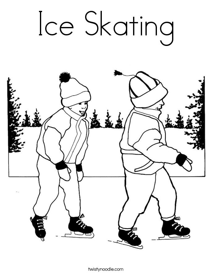 ice skating colouring pictures skating coloring pages ice skating coloring page sketch ice pictures skating colouring