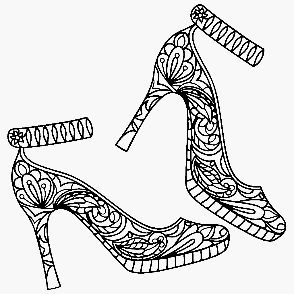 images of shoes to color girls shoes coloring pages at getcoloringscom free shoes color images to of