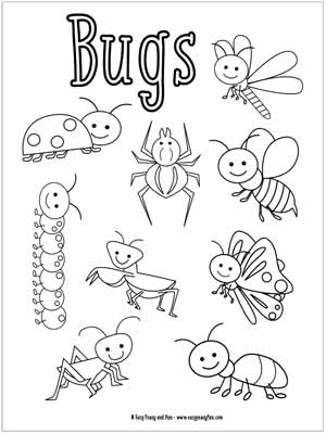 insects for coloring insect coloring pages for kids at getdrawings free download coloring insects for
