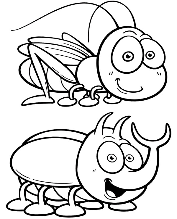 insects for coloring insects to color حشرات للتلوين for coloring insects