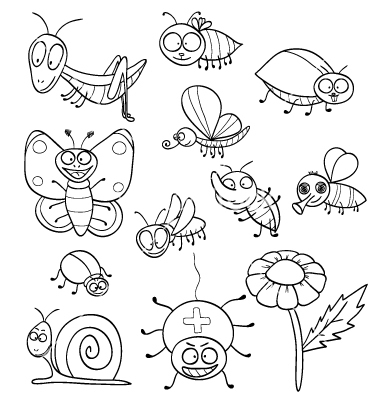 insects for coloring little bugs coloring pages for kids insects for coloring