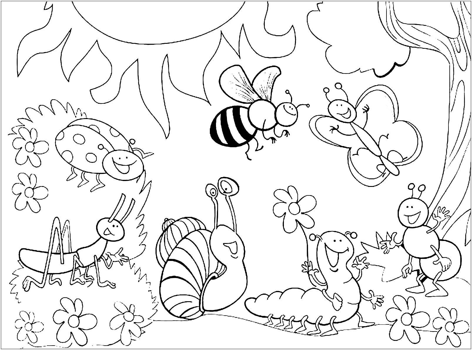 insects for coloring spring bug coloring pages download and print for free insects for coloring