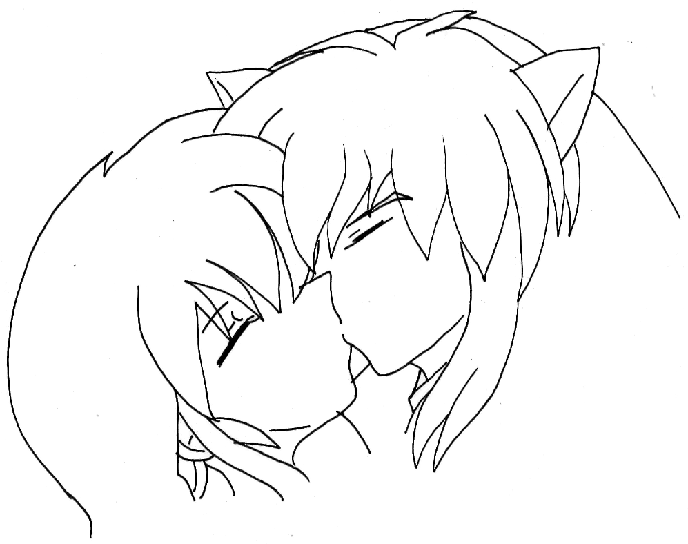inuyasha and kagome coloring pages inu kagome by usagisailormoon20 on deviantart inuyasha kagome pages and coloring