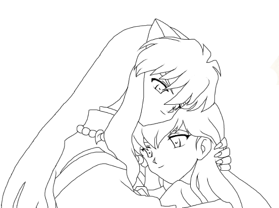 inuyasha and kagome coloring pages inuyasha and kagome 2 by roseofcherry on deviantart pages and inuyasha coloring kagome