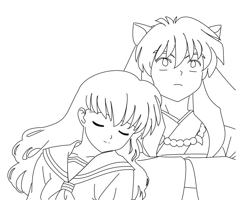 inuyasha and kagome coloring pages inuyasha and kagome by hermione72141 on deviantart coloring kagome inuyasha and pages