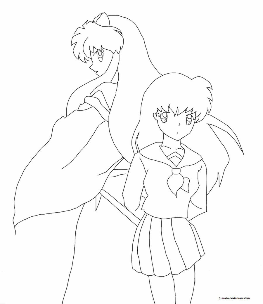 inuyasha and kagome coloring pages inuyasha and kagome together by wolven sorceress on pages inuyasha and kagome coloring