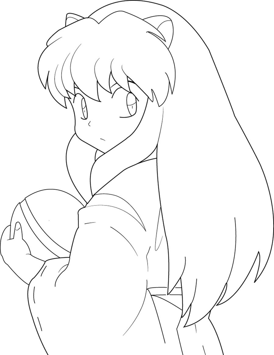 inuyasha and kagome coloring pages inuyasha x kagome lineart by yamimatsuo on deviantart and coloring inuyasha kagome pages