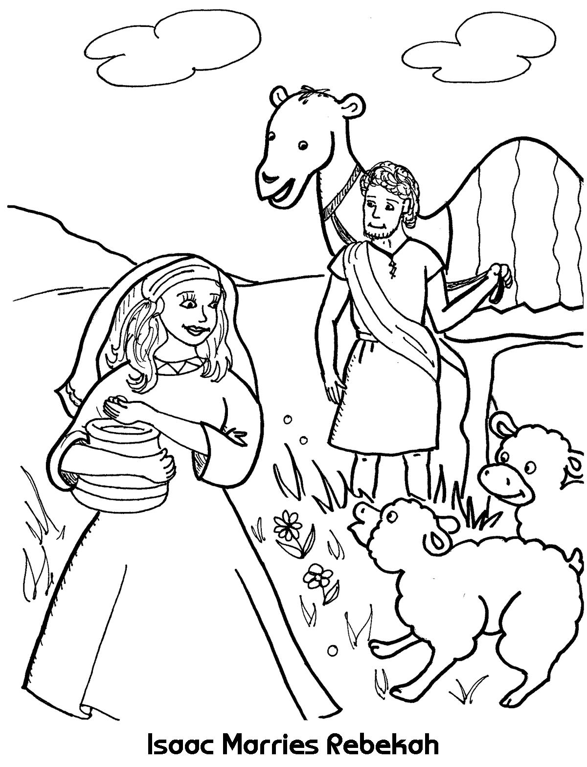 isaac and rebekah coloring pages 39 best images about isaac and rebekah on pinterest pages and coloring rebekah isaac