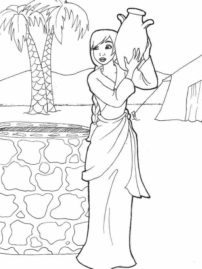 isaac and rebekah coloring pages isaac and rebekah coloring page at getcoloringscom free isaac coloring pages and rebekah