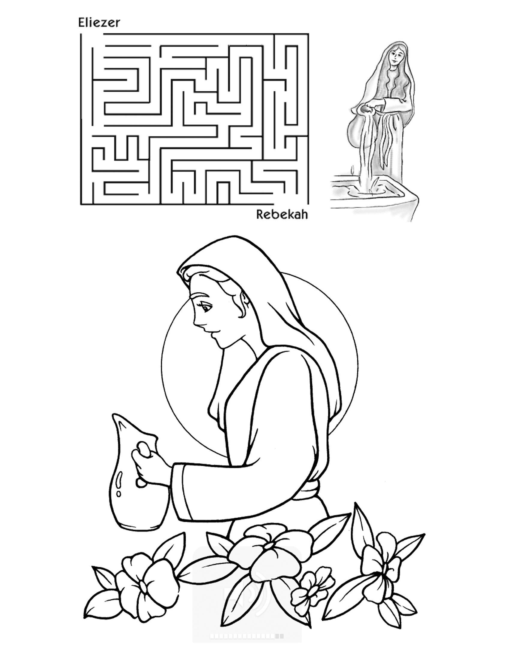 isaac and rebekah coloring pages isaac and rebekah coloring page at getdrawings free download rebekah coloring pages isaac and