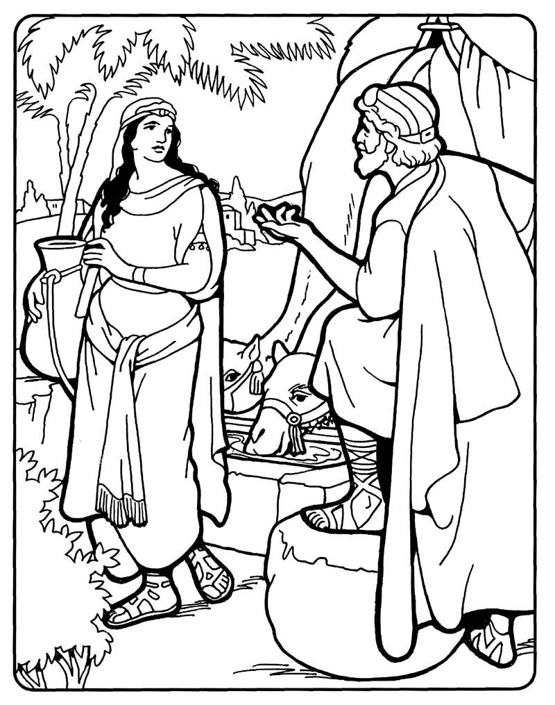 isaac and rebekah coloring pages isaac marries rebekah coloring sheet wesleyan kids and coloring rebekah isaac pages