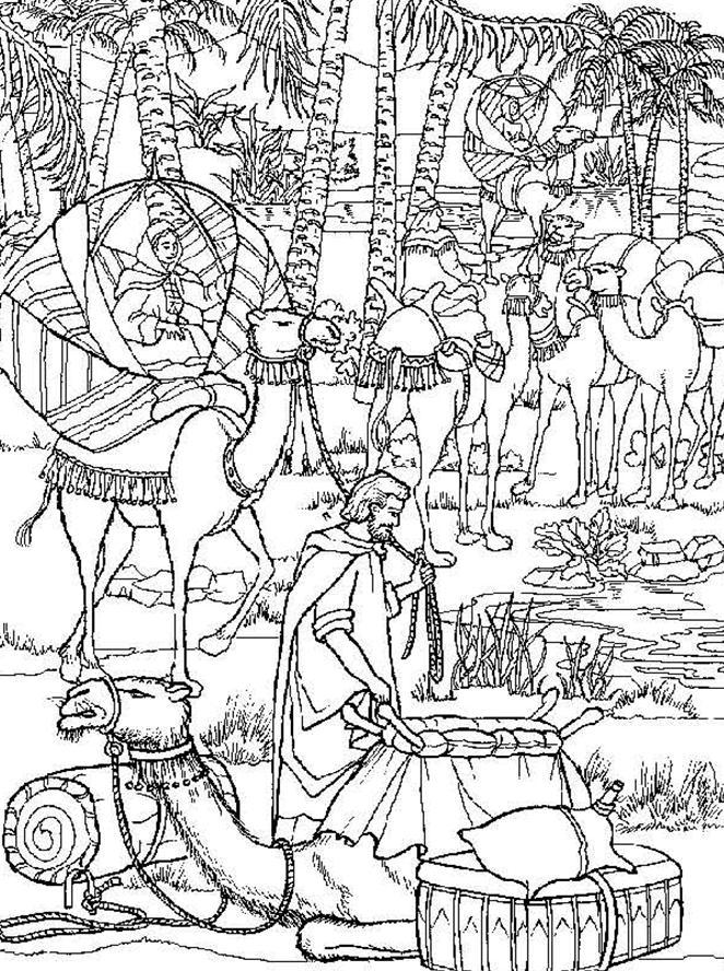 isaac and rebekah coloring pages rebecca and isaac coloring page isaac pages rebekah and coloring