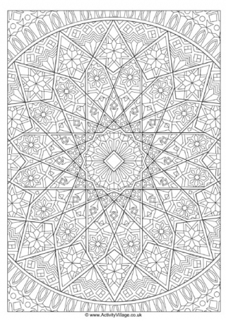islamic art patterns to colour coloring page islamic coloring home colour islamic to patterns art