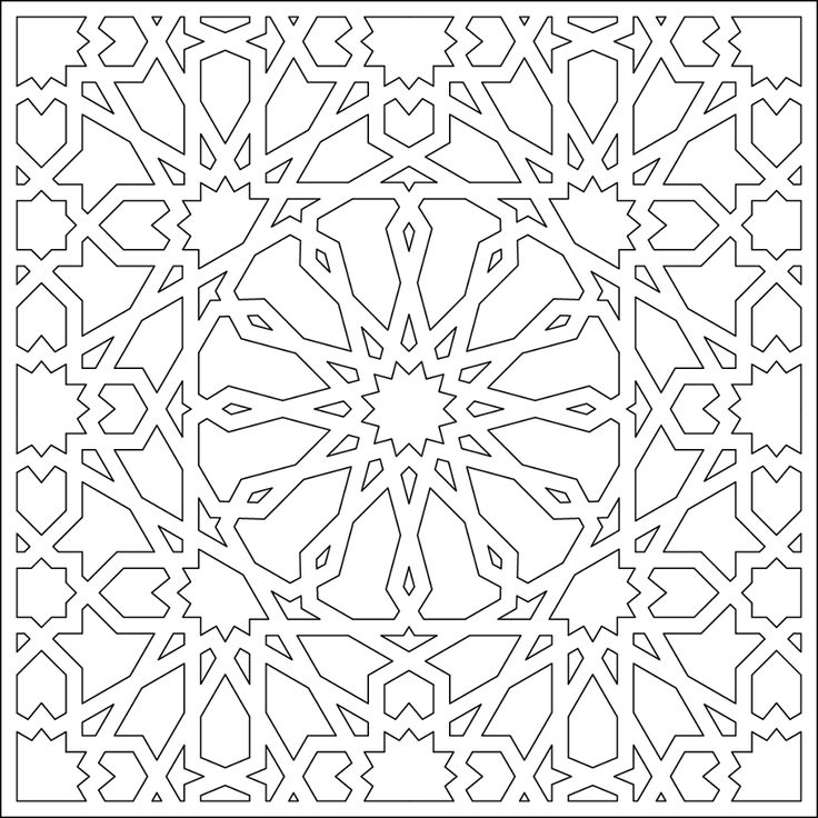 islamic art patterns to colour geometric coloring page 82 with images islamic tiles art islamic to colour patterns