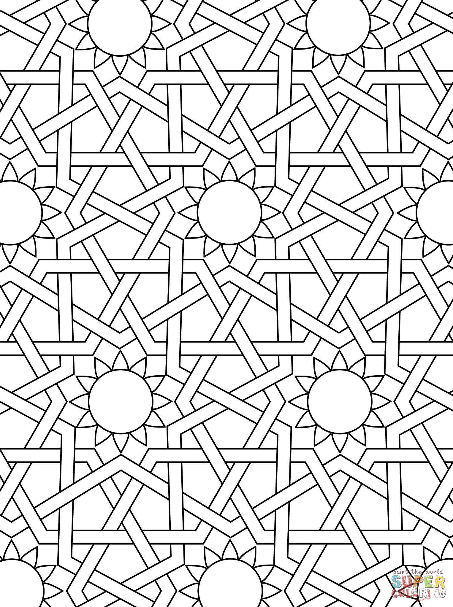 islamic art patterns to colour islamic art coloring pages at getdrawings free download colour patterns islamic to art