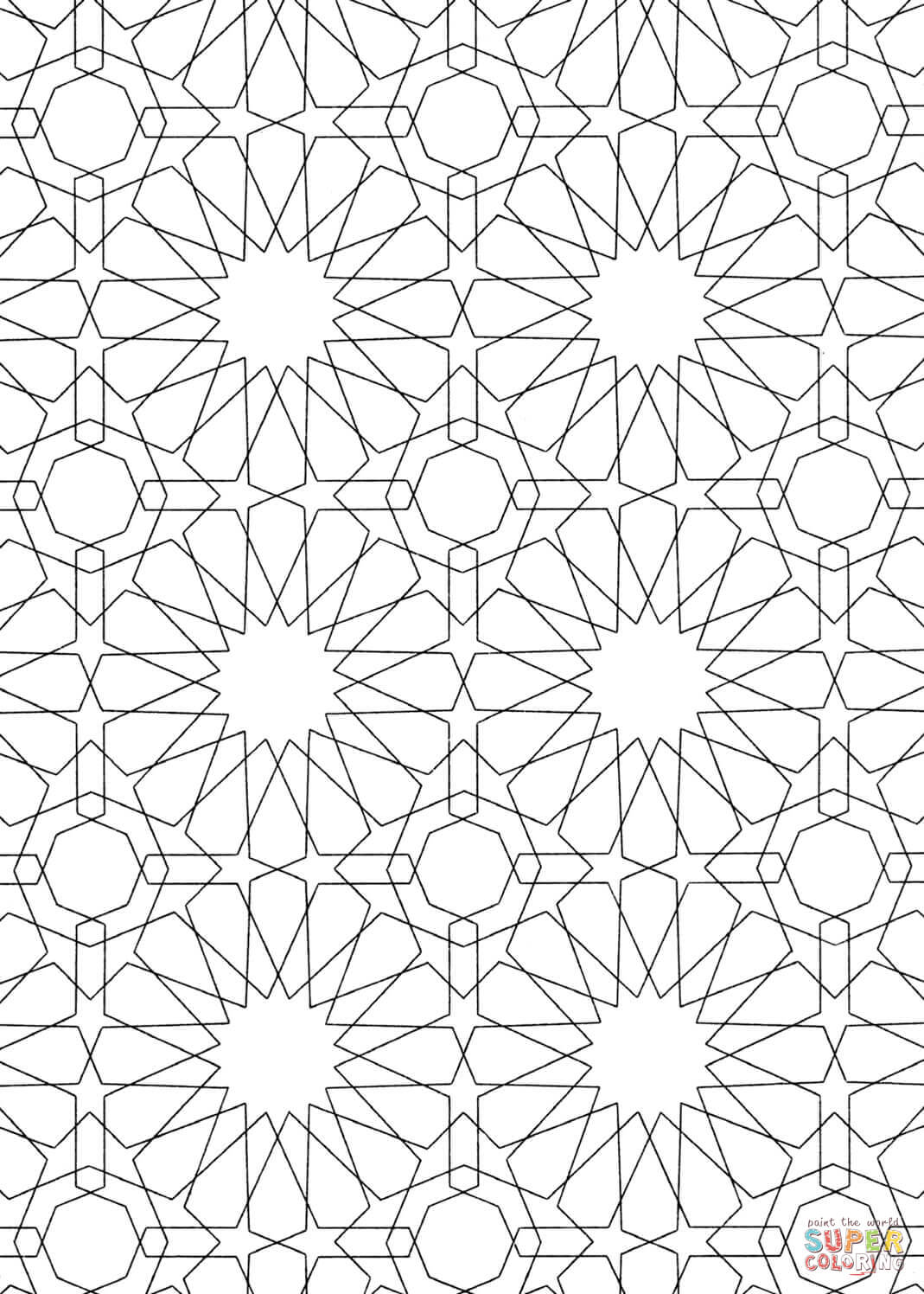 islamic art patterns to colour islamic art drawing at getdrawings free download to islamic art patterns colour
