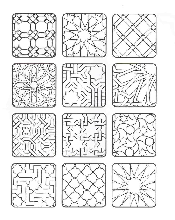 islamic art patterns to colour islamic art drawing at getdrawings free download to patterns islamic art colour