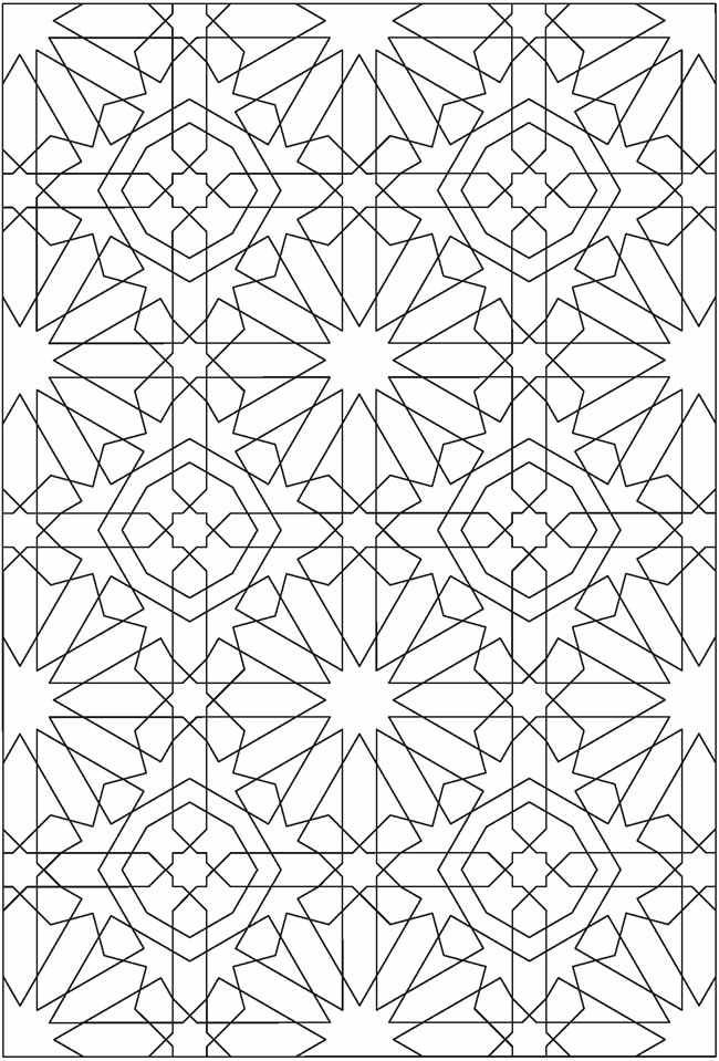 islamic art patterns to colour islamic ornament mosaic coloring page free printable colour islamic patterns art to