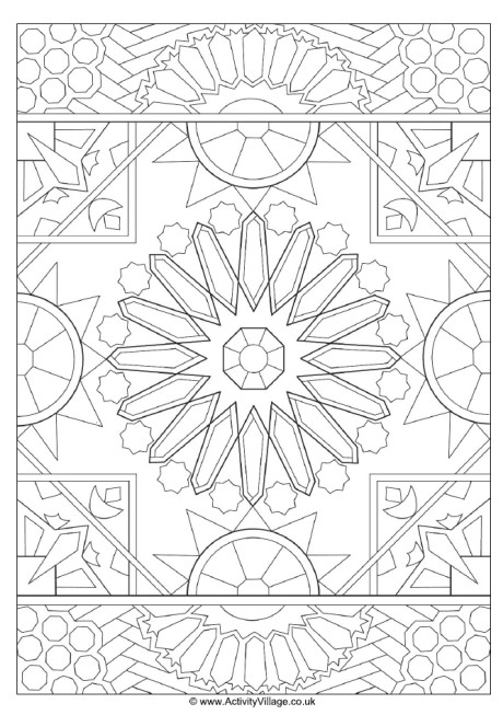 islamic art patterns to colour traditional islamic mosaic coloring page free printable patterns art islamic colour to