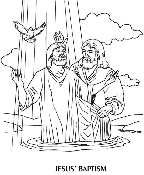 jesus getting baptized coloring page baptism coloring pages printables at getcoloringscom getting coloring baptized jesus page