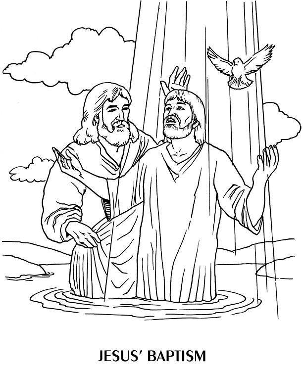 jesus getting baptized coloring page baptism drawing at getdrawings free download page coloring jesus getting baptized