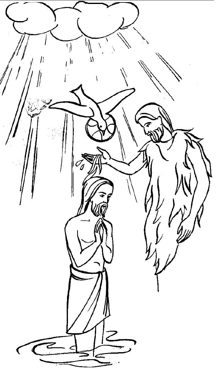 jesus getting baptized coloring page christmas baptism of jesus coloring pages best place to jesus page baptized getting coloring